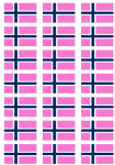 Norway Gay Pride Flag Stickers - 21 per sheet